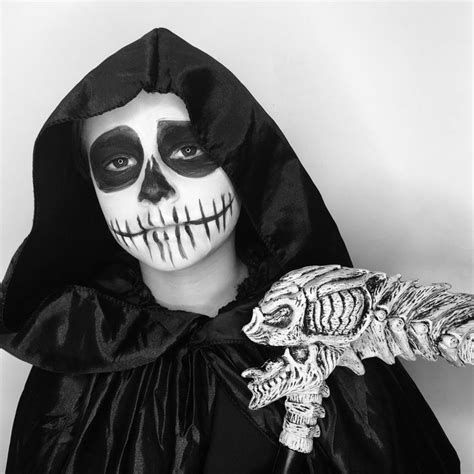 image result for grim reaper halloween makeup  grim