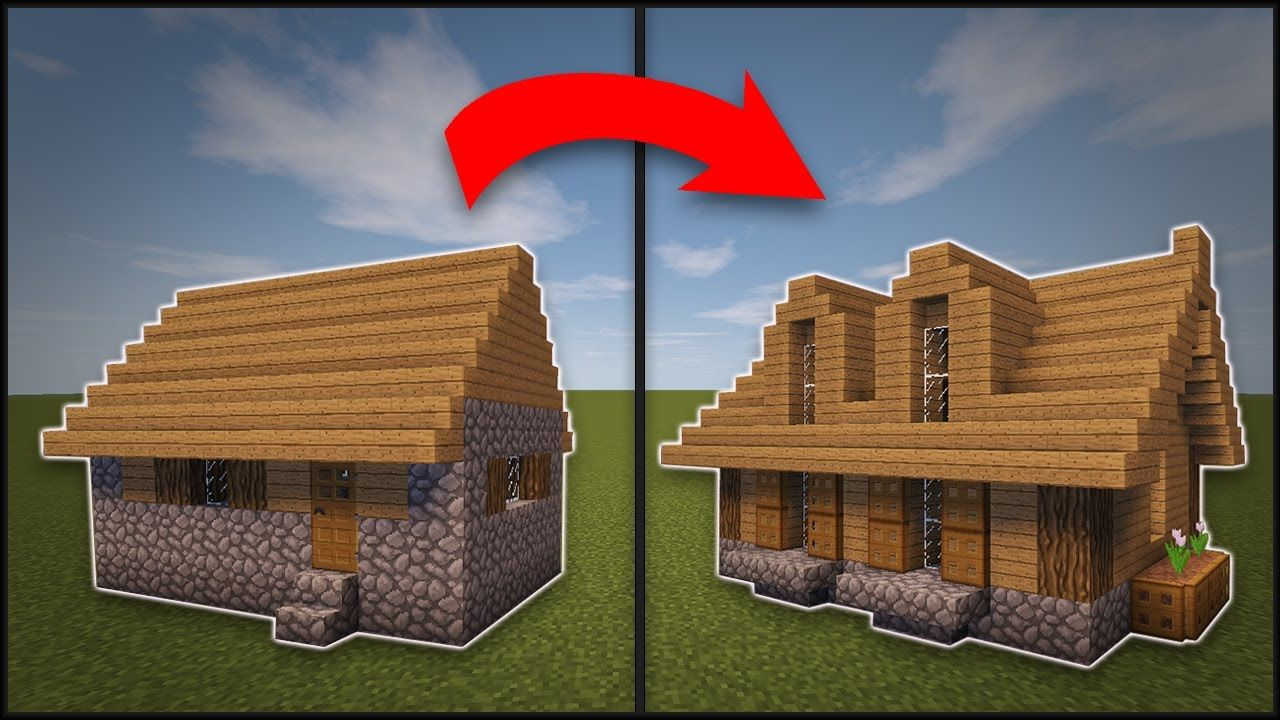 Minecraft How To Remodel A Village Large House Minecraft Houses Minecraft Architecture Minecraft House Designs