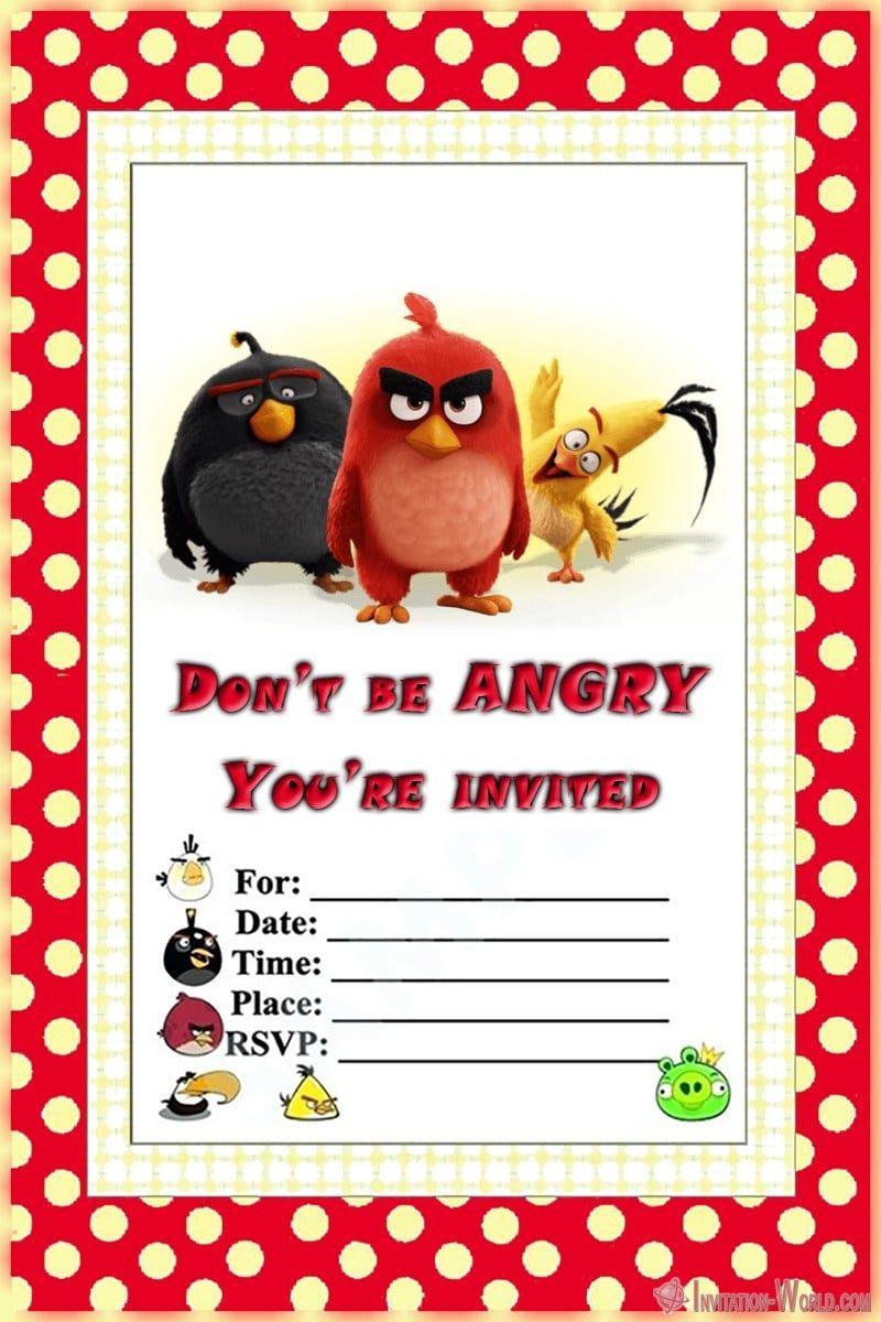 8 Free Angry Birds Invitation Templates Invitation World Bird Birthday Invitations Birthday Invitation Templates Superhero Birthday Invitations