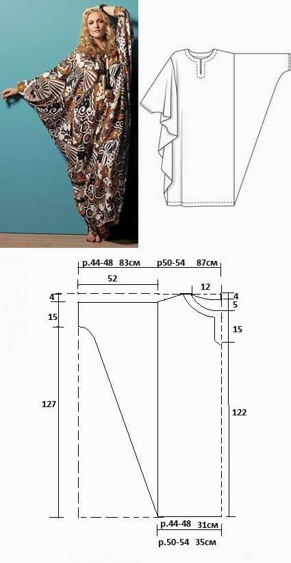 Kaftan   Sewing   Pinterest   Maxi kleider, Nähen schnittmuster und ...