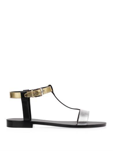 Saint Laurent T-bar leather sandals