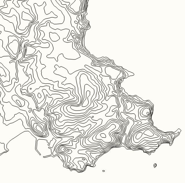 Contour Map Dartmoor