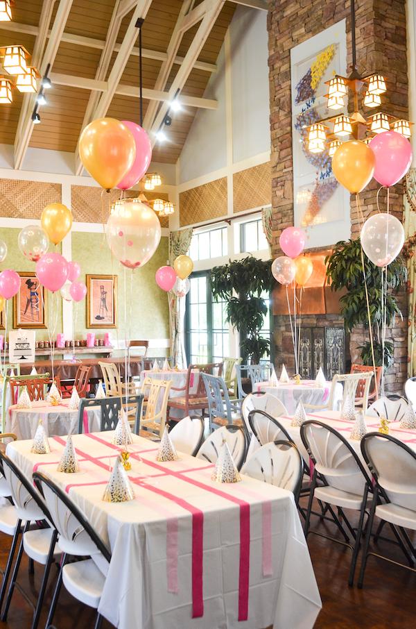 Pink Gold Twin Birthday Party Ellie Lylas First Birthday