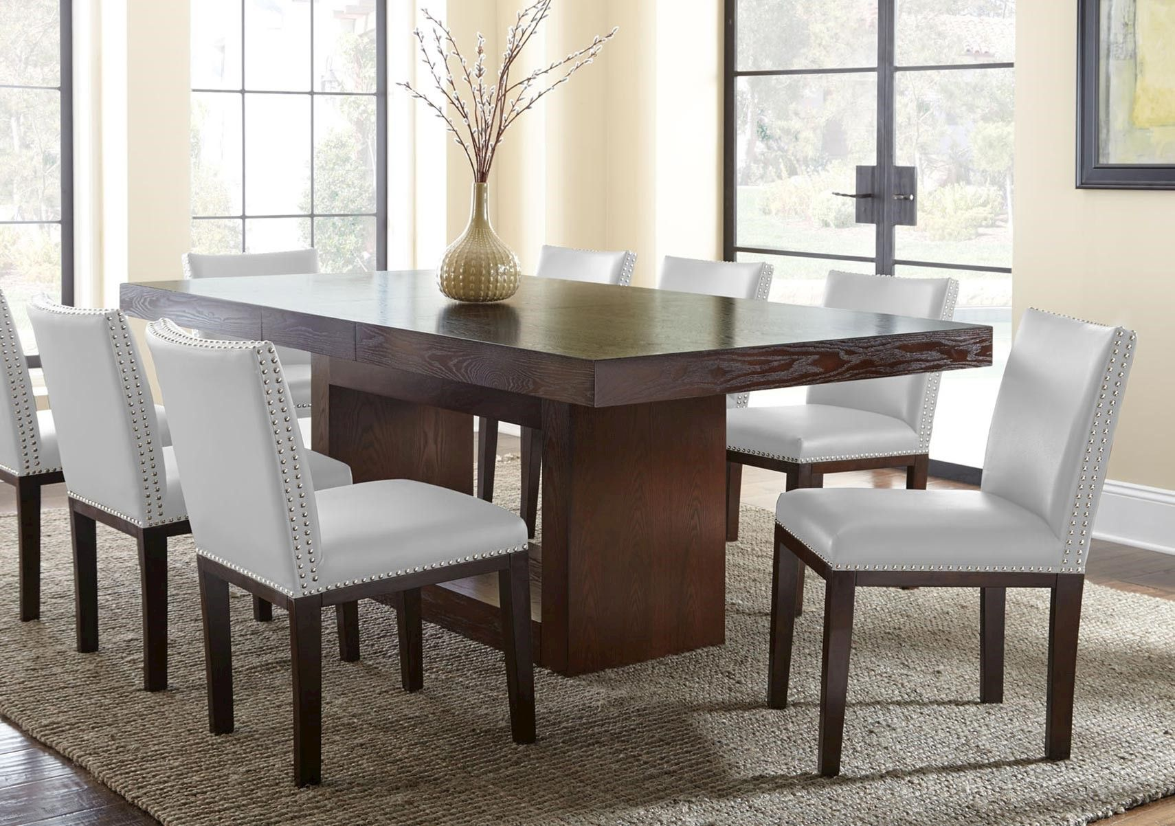 Lacks Antonio 7 Pc Dining Set Contemporary Style Homes Dining