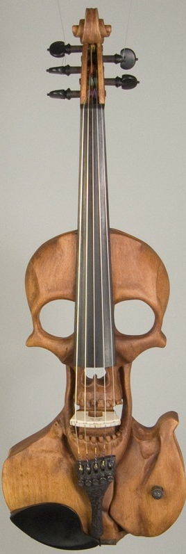 Stratton Skull 5-string Electric Violin.