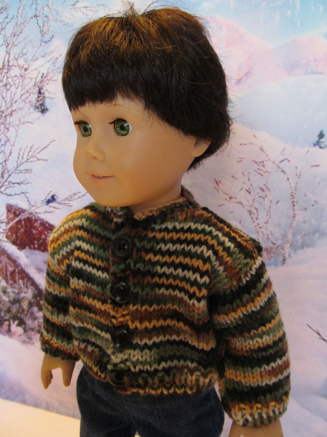 18'' Boy Doll Camo Sweater, Camo colors , Browns, Tans, Greens and Black Yarn. Winterwear, Outdoorwear, Playwear, Funwear,Everydaywear by SewManyThingsbyNancy on Etsy #boydollsincamo 18'' Boy Doll Camo Sweater, Camo colors , Browns, Tans, Greens and Black Yarn. Winterwear, Outdoorwear, Playwear, Funwear,Everydaywear by SewManyThingsbyNancy on Etsy #boydollsincamo 18'' Boy Doll Camo Sweater, Camo colors , Browns, Tans, Greens and Black Yarn. Winterwear, Outdoorwear, Playwear, Funwear,Everydaywear #boydollsincamo