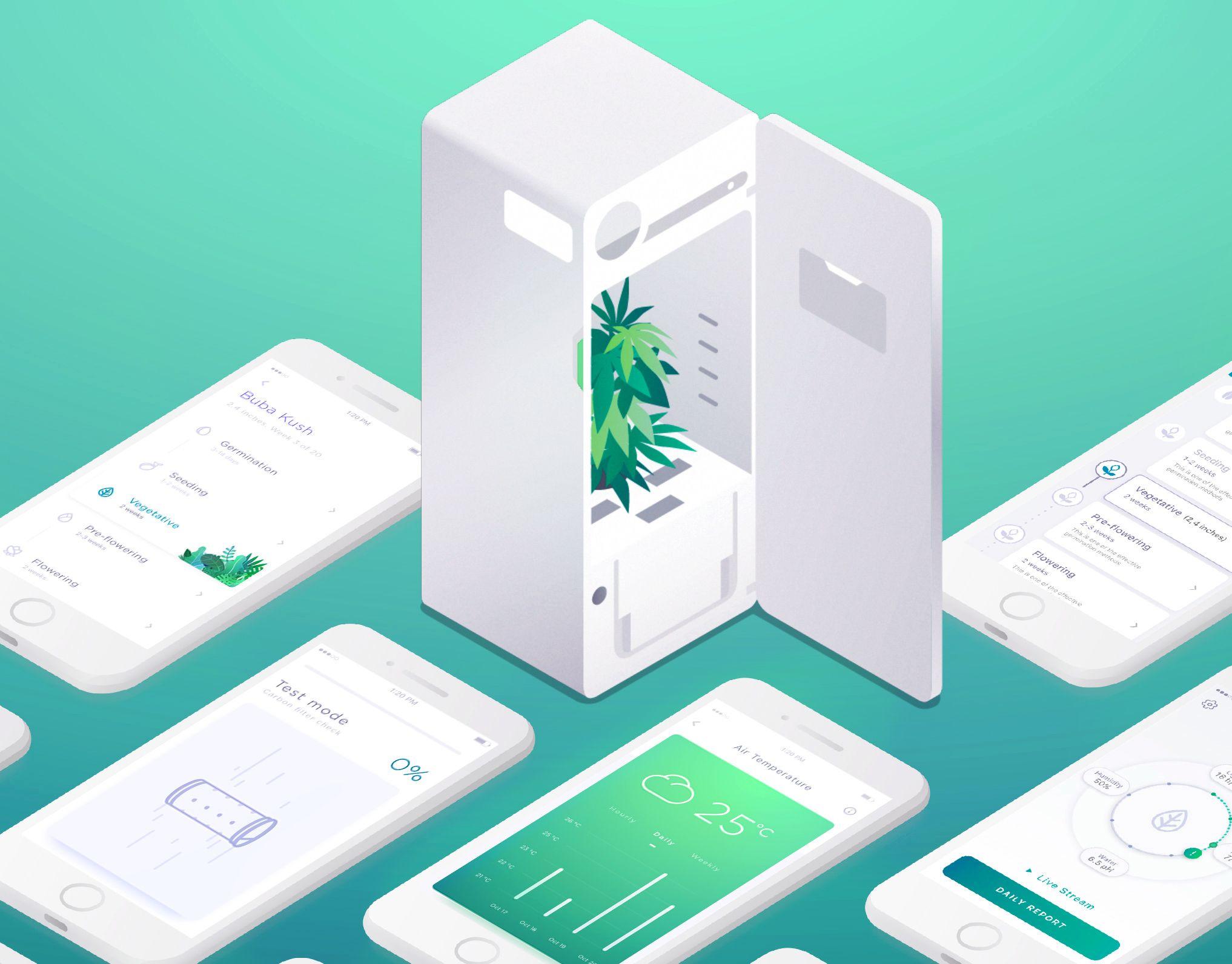 다음 @Behance 프로젝트 확인: \u201cLEAF Growbox Mobile Application\u201d https://www.behance.net/gallery/49445211/LEAF-Growbox-Mobile-Application