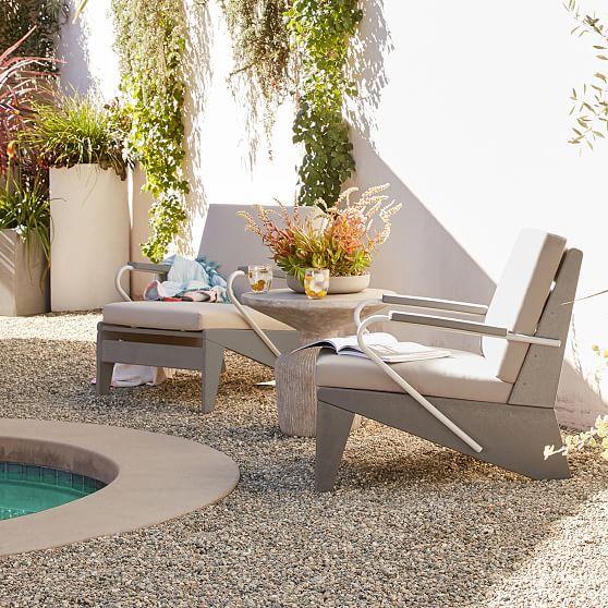 Modern Adirondack Lounge Chair, White