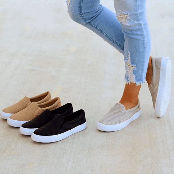 Slip On Running Flat Sneakers