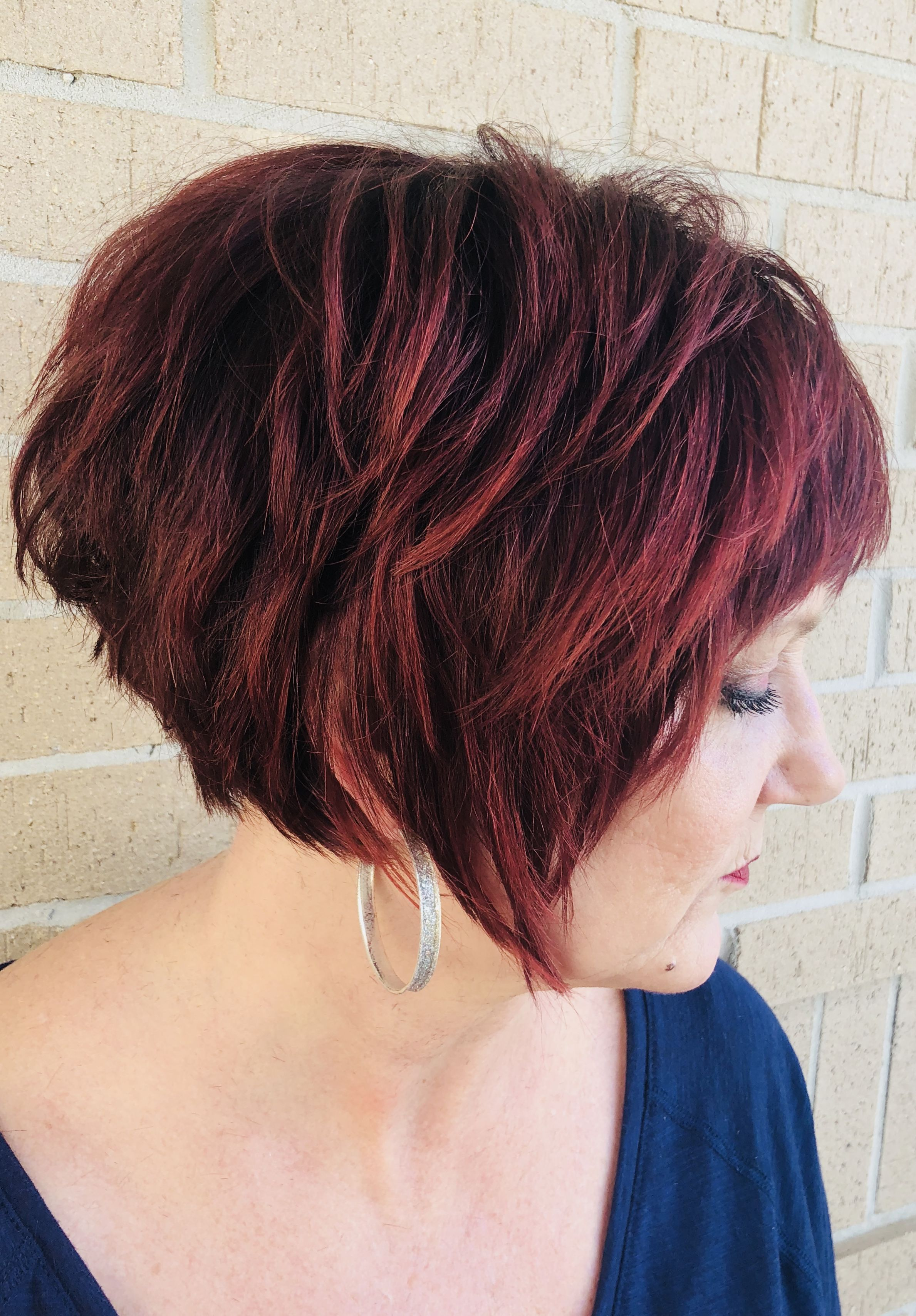 Red short hair by kandace luck colorcuts pinterest red shorts