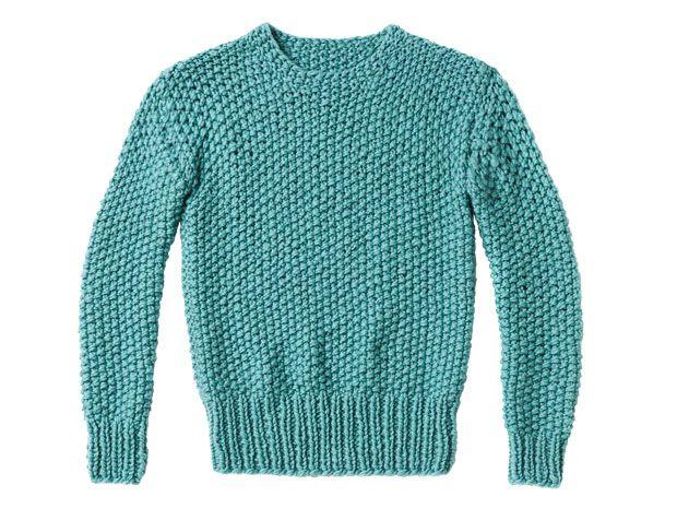Strickmuster: Perlmuster-Pullover stricken - eine Anleitung ...