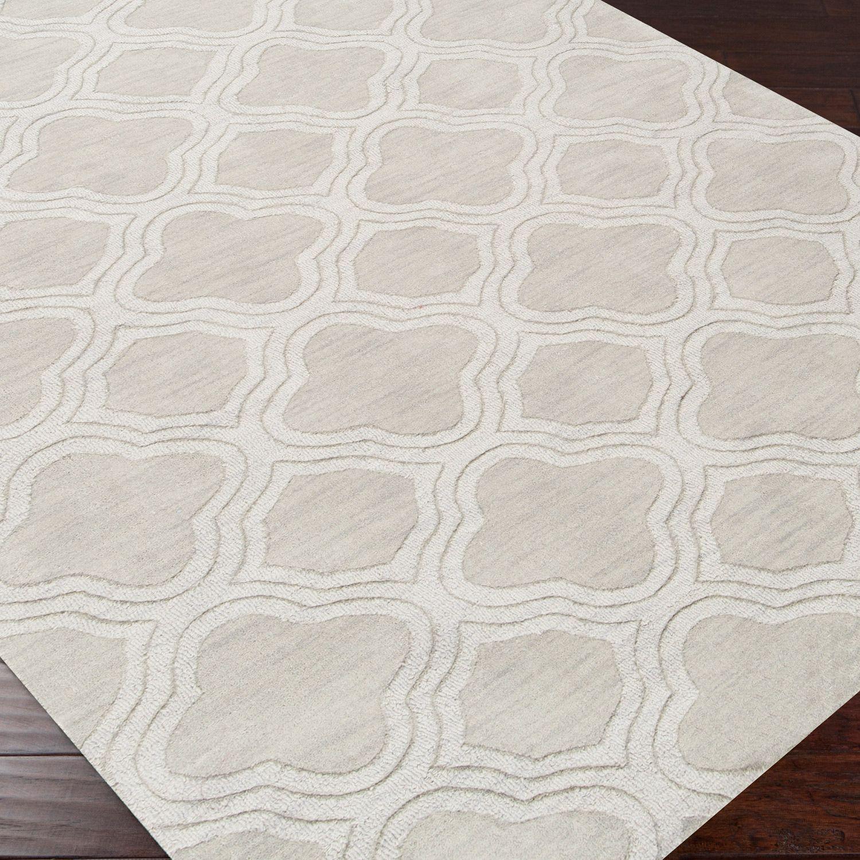 Plush Rug Zinc: Surya Mystique Waves Palm Plush Pile Wool Rug @Sarah