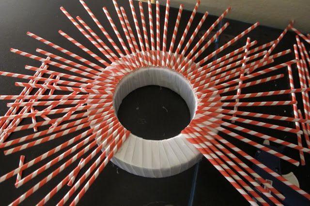 drinking straw wreath | Paper Straw Wreath DIY