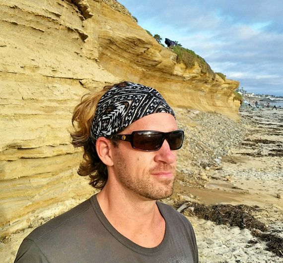51fe27830d44 Mens headband-Tribal hair wrap-Brown headband-Bandana-Yoga headband ...