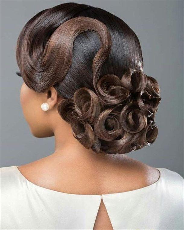 20 Wedding Updo Hairstyles For Black Brides Nakayladarian Wedding