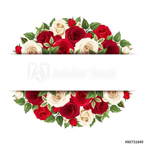Background With Red And White Roses Vector Eps 10 Comprar Este Vector De Stock Y Explorar V Tarjetas Artisticas Marcos Para Etiquetas Flores Rojas Y Blancas
