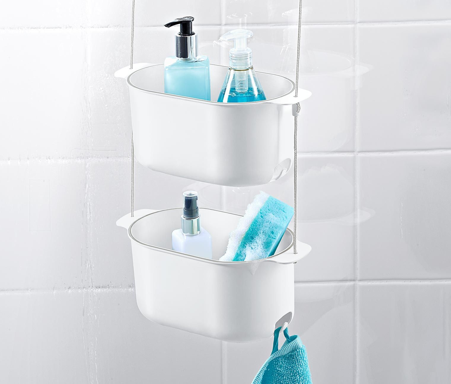 Závesná polička do sprchy  Dusch hängeregal, Duschbadewanne