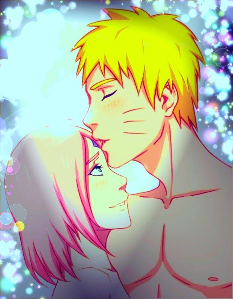 naruto kiss sakura in forehead narusaku the last narusaku