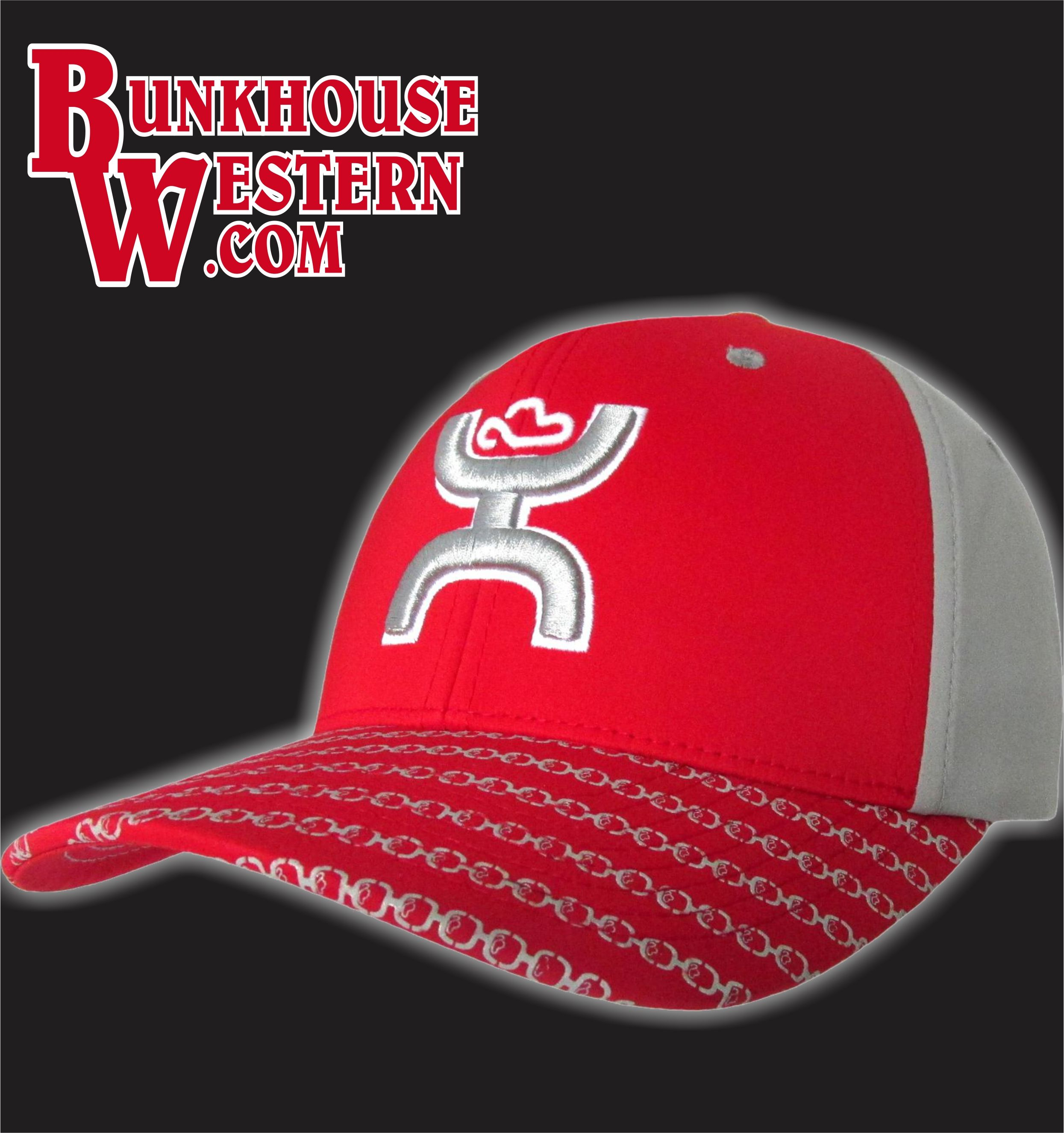 new style 54a5e 44b7b Hooey, Solo III, Red FlexFit Cap, Cowboy Hat, Rodeo, Roping,