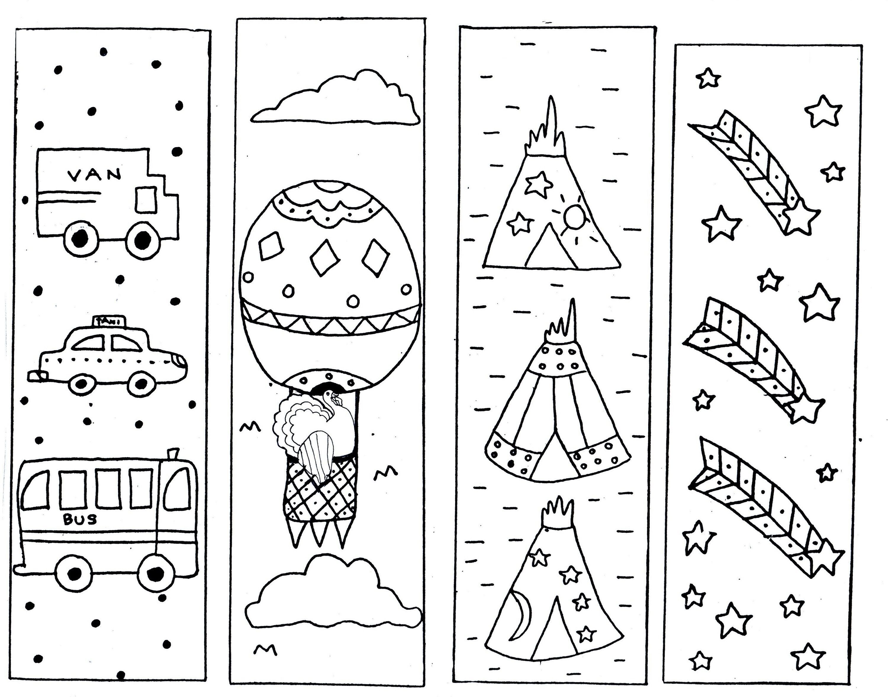 Printable Bookmarks To Color In Practice With Images Coloring