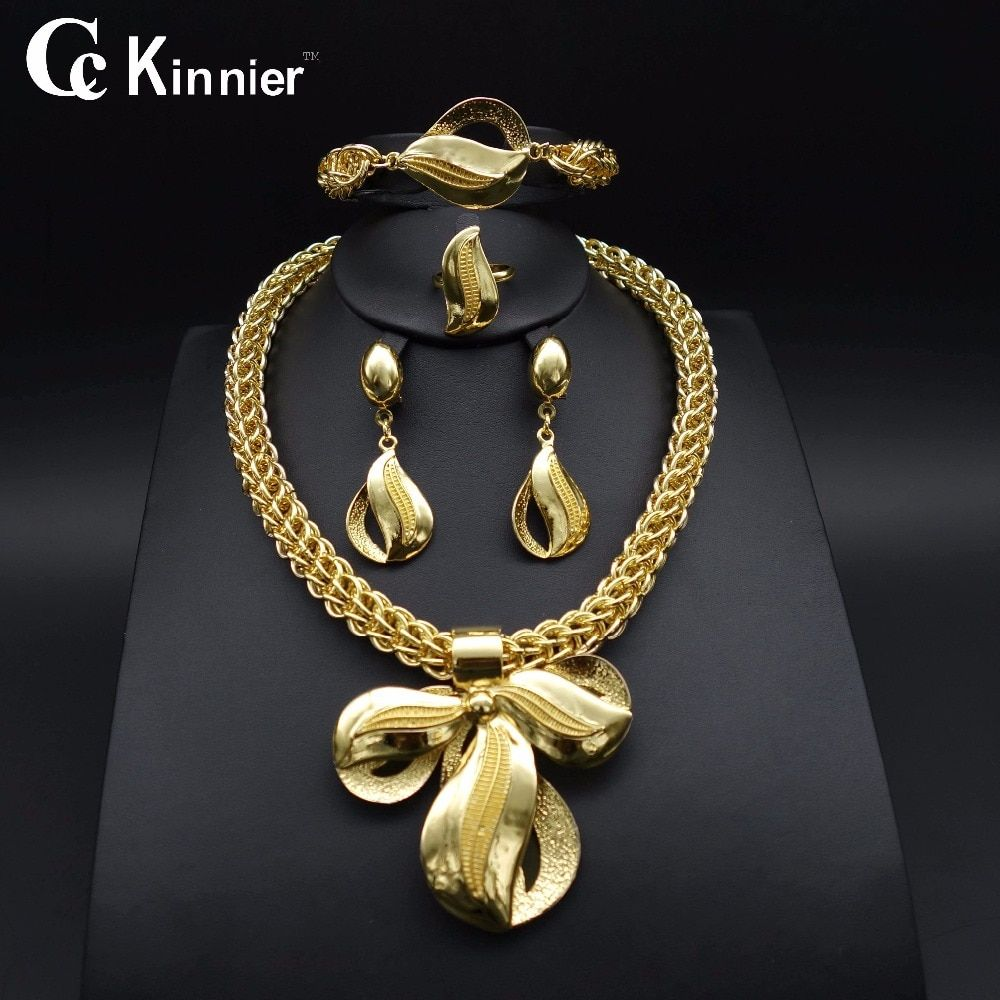 High quality women Necklace Bangle Earring Ring Fine
