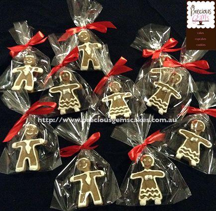 Gingerbread men and women cookies by preciousgemscakes.com.au
