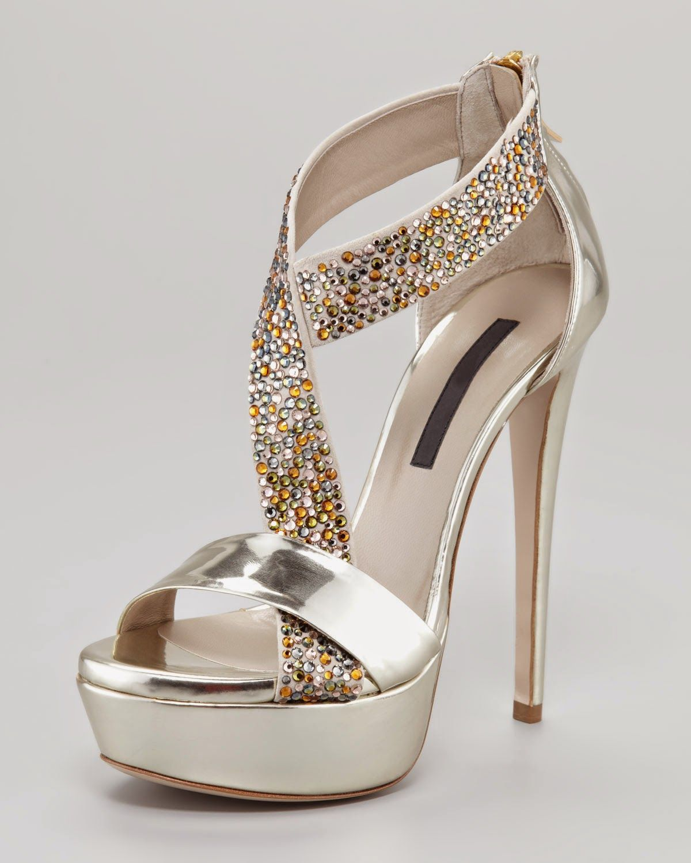 2d64facbe5b Zapatos de moda para fiestas | Shoes | Zapatos plateados fiesta ...