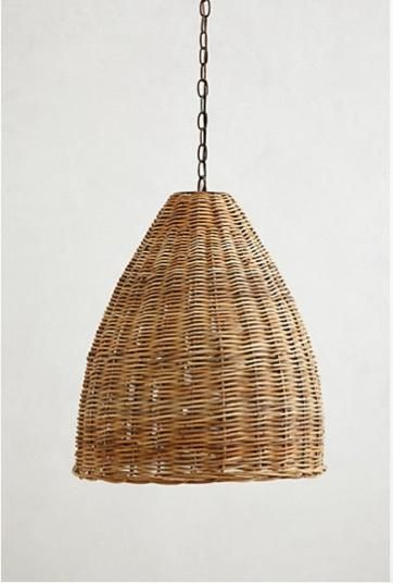 HighLow A Trio of Woven Wicker Pendant Lights Pendant lamps
