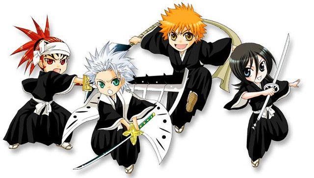 Cute Version Of Bleach Ichigo Renji Rukia Captain Hitsugaya