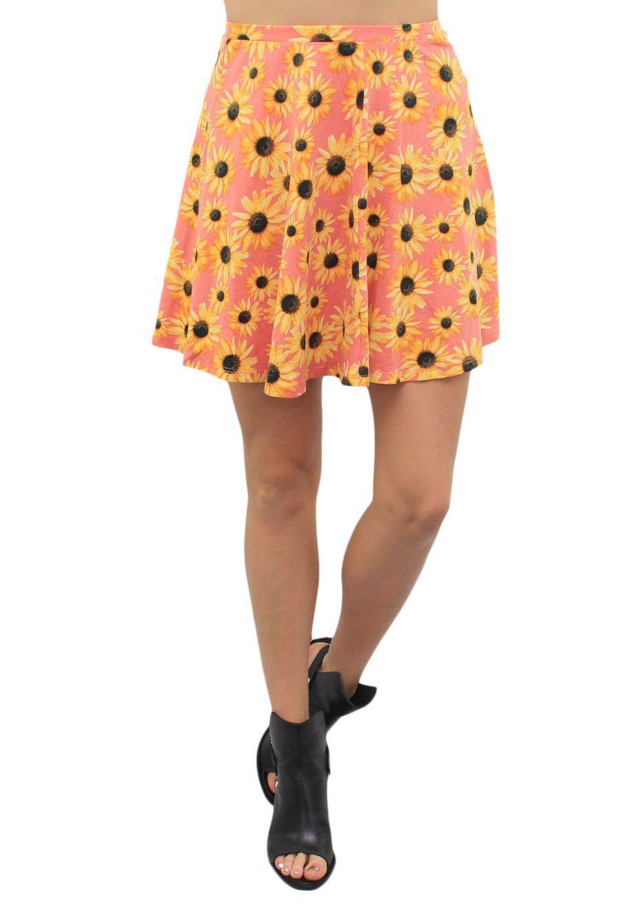Orange Sunflower Skirt #Boutiquedresses #wholesaledresses #wholesaleclothing #boutiquewholesaleclothing #womenswholesaleclothing #wholesaleclothinboutique #wholesaledresses #wholesalejoggers