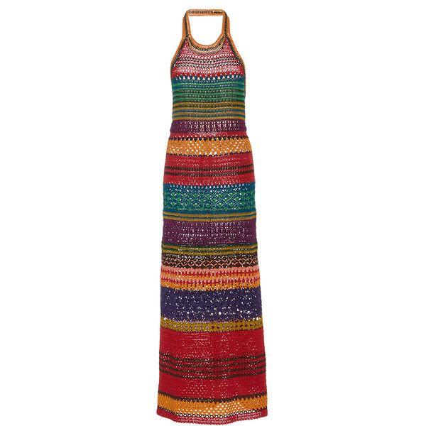 Spencer Vladimir     Tulum Halter Dress (4.727.045 COP) ❤ liked on Polyvore featuring dresses, multi, bright colorful dresses, bright dresses, halter neckline dress, halter dress and bright colored dresses