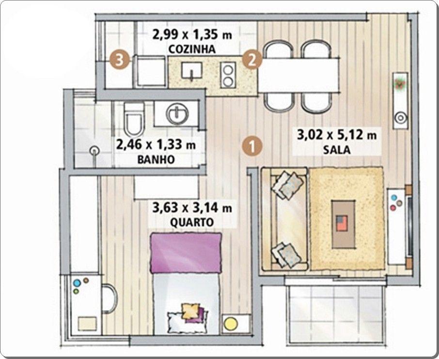 7 Apartamentos Pequenos Decorados e Otimizados  Apartment complexes, Kitchen -> Armario De Banheiro Lofty