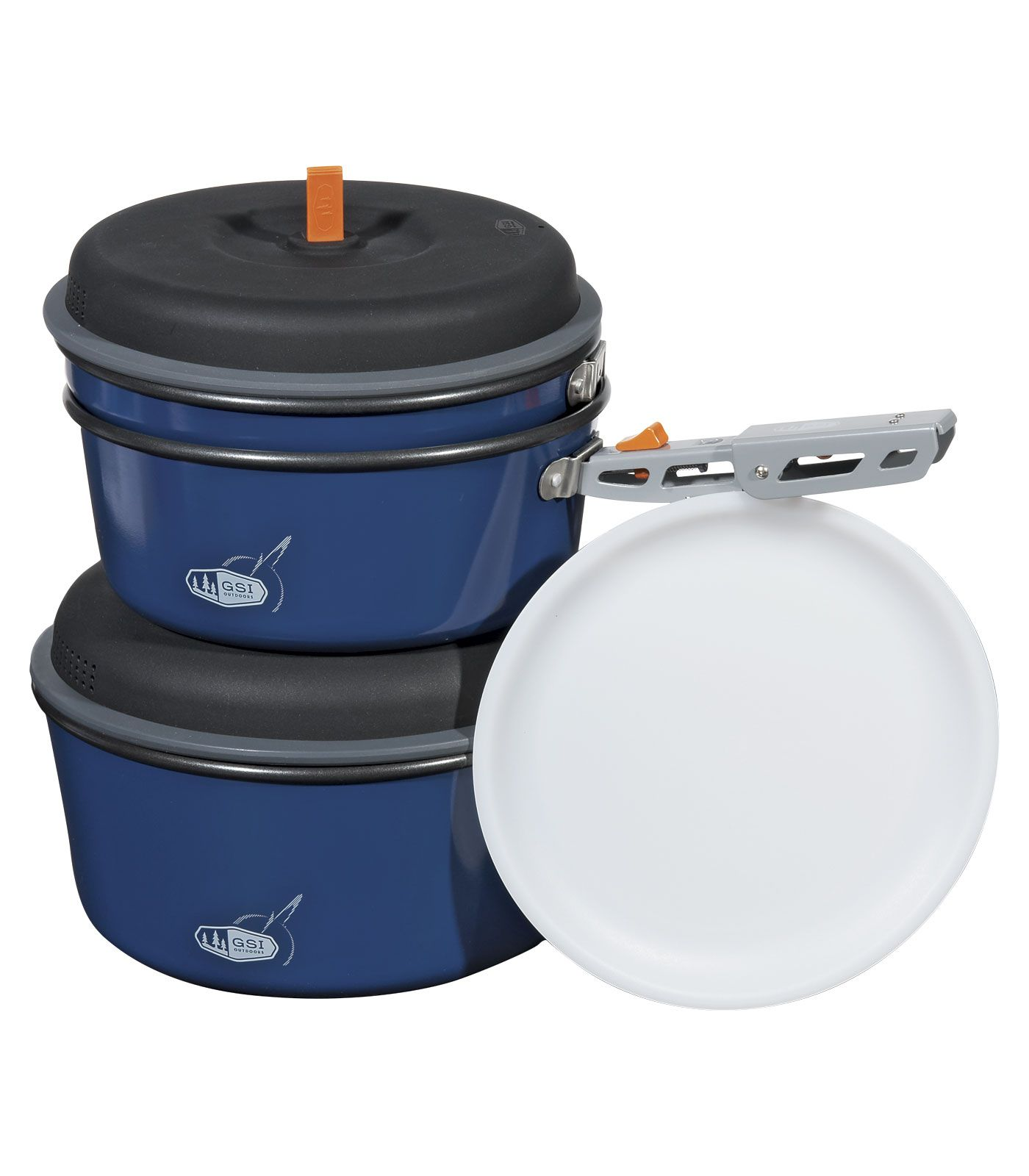 7-piece cooking set for 3 people Non-stick aluminum potsIncluding: 3-litre pot, 2-litre pot, 8