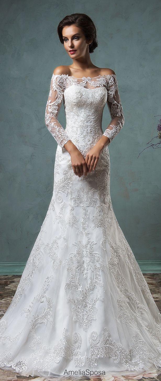 Bridal trends off the shoulder wedding dresses amelia sposa