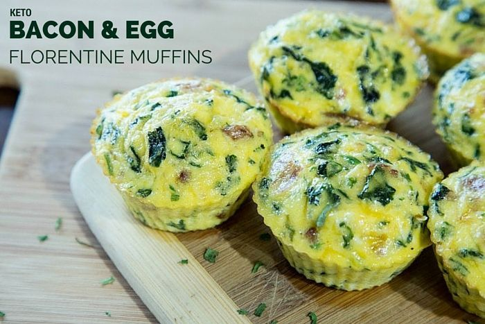 Keto Bacon and Egg Florentine Muffins