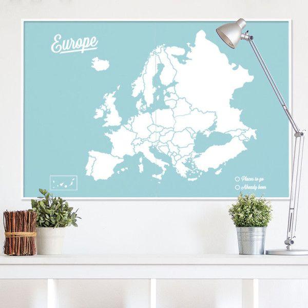 mapamundi-Europa-XXL-azul-Blanco-con-marco-blanco | CASA | Pinterest ...