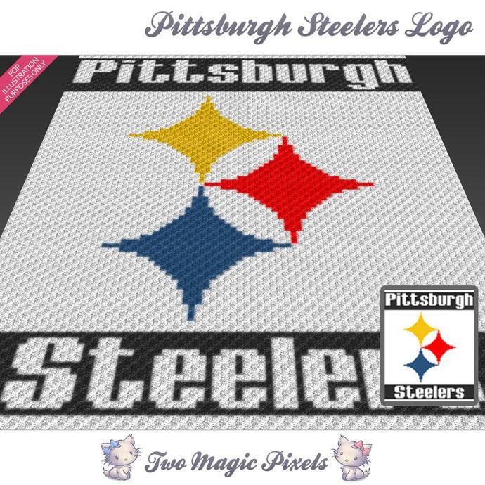 pittsburgh steelers logo crochet blanket pattern c2c cross stitch