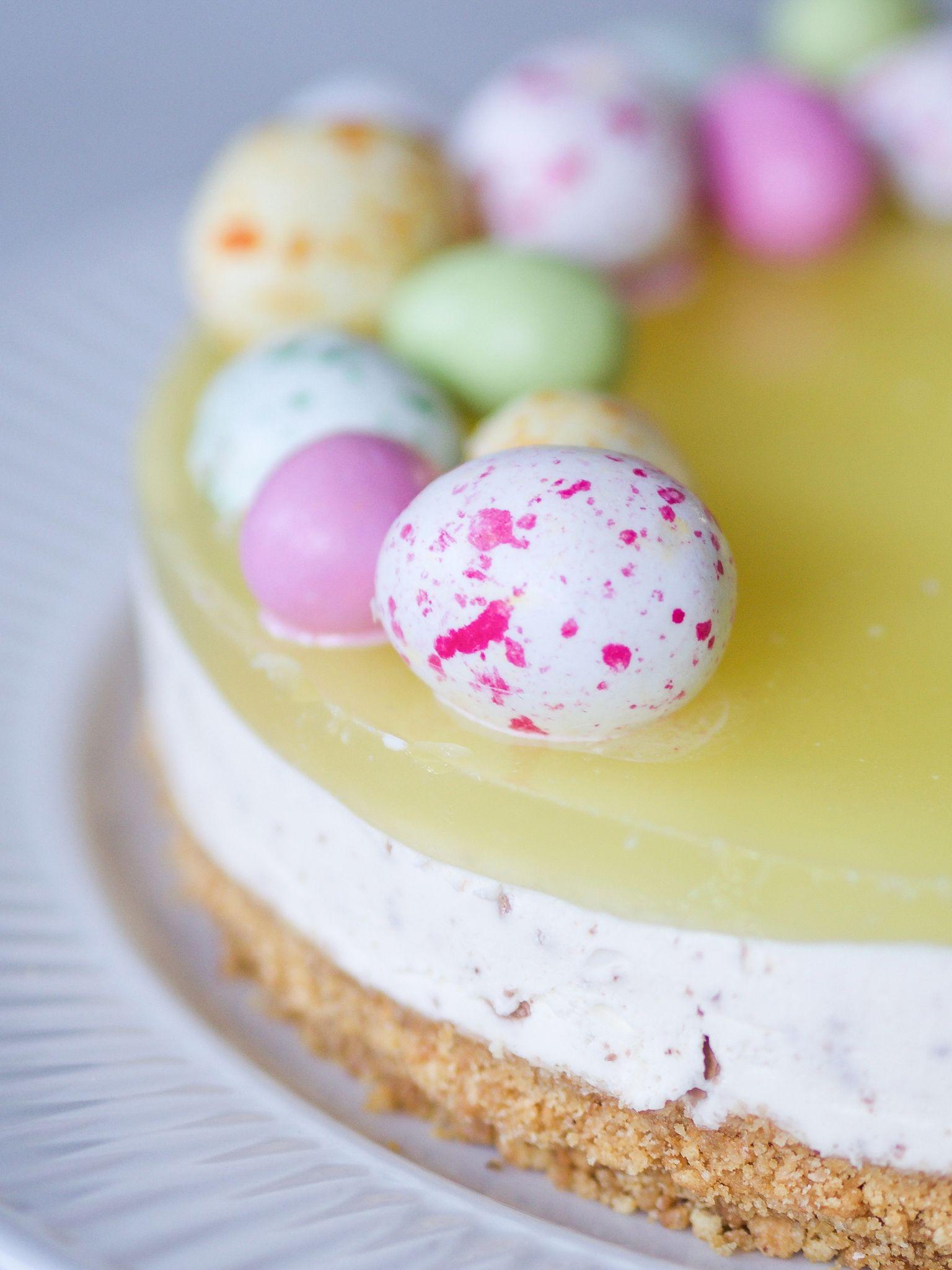 Paske Cheesecake Med Citron Christinaholmsvarer Opskrift I 2020 Paskekage Cheesecake Opskrifter Dessert