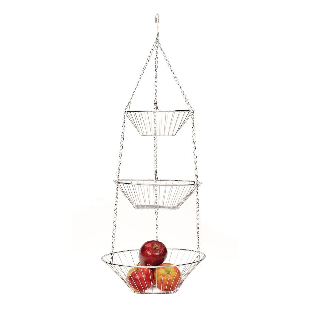 Product Image For Rsvp 3 Tier Chrome Basket