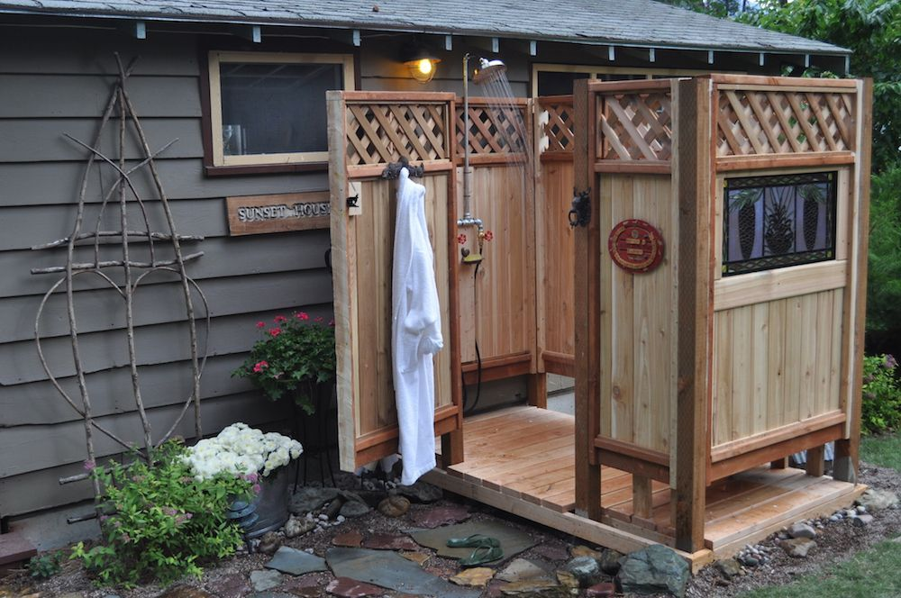Diy outdoor shower design and build your own outdoor