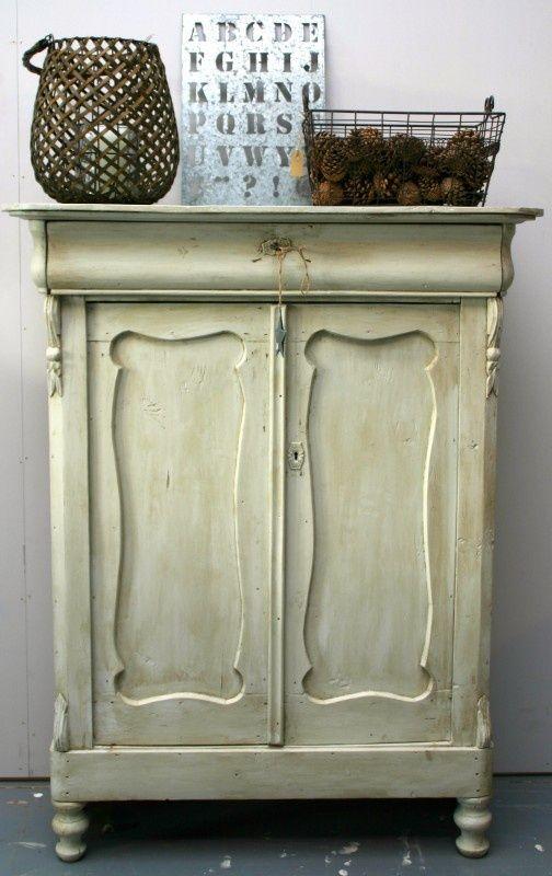 Oude meidenkast idee n voor het huis pinterest kasten oude kasten en schilderen idee n - Modern meubilair en oude ...