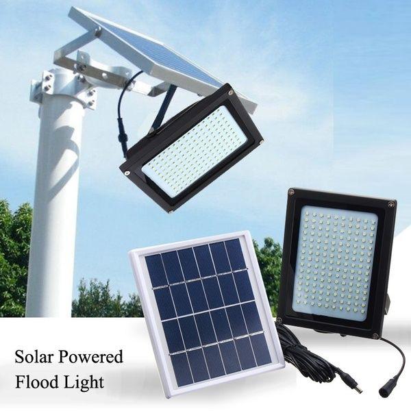 150led Solar Powered Flood Light Street Lamp Outdoor Garden Security Lamp Waterproof In 2020 Solar Powered Flood Lights Solar Powered Lights Solar