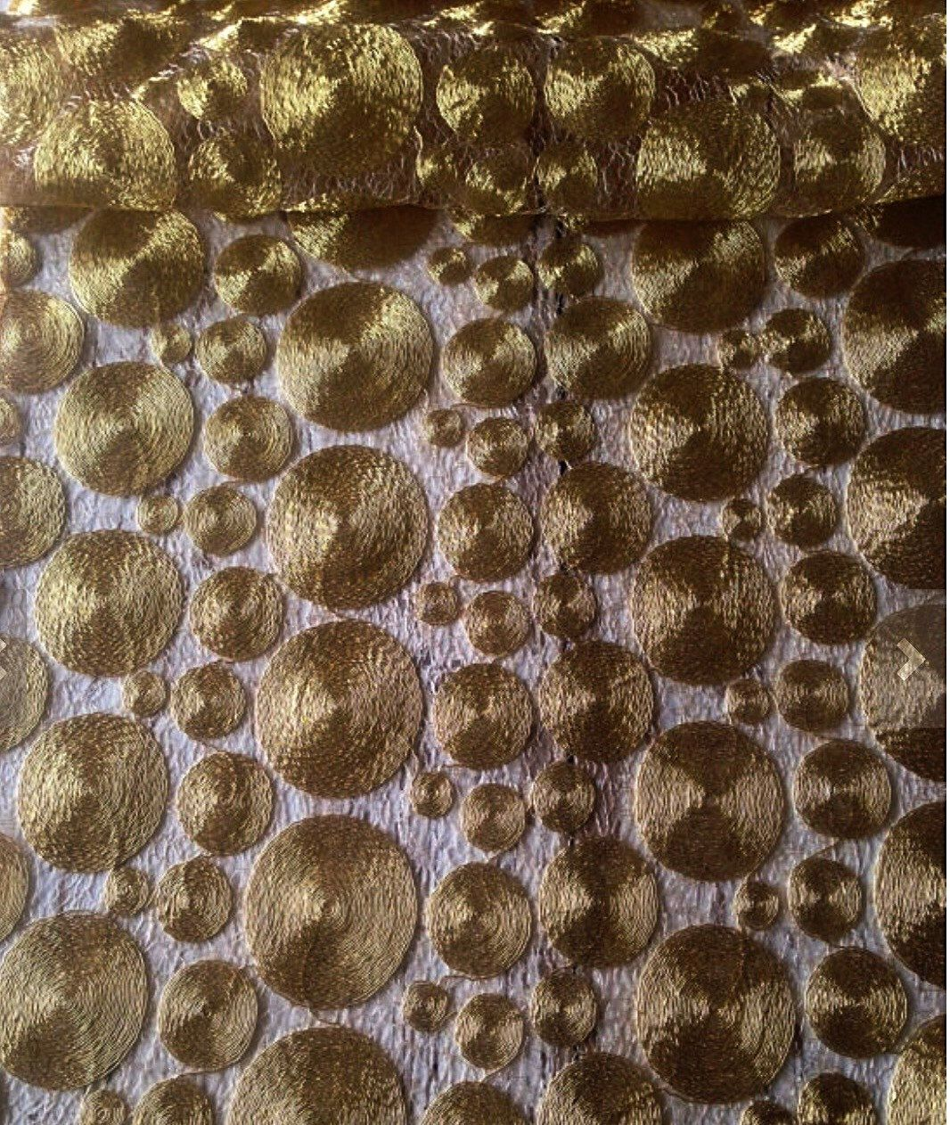 Awesome Antique Gold Filigree Table Runner, Tablecloth, Table Overlay, Gold Sequin  Tablecloth