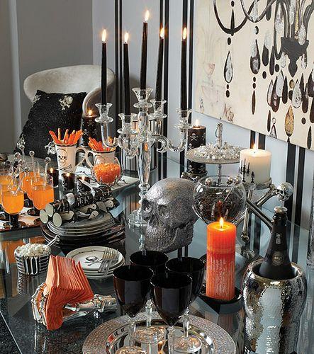 Halloween Tablescapes Halloween Table Decorations Halloween Entertaining Halloween Buffet