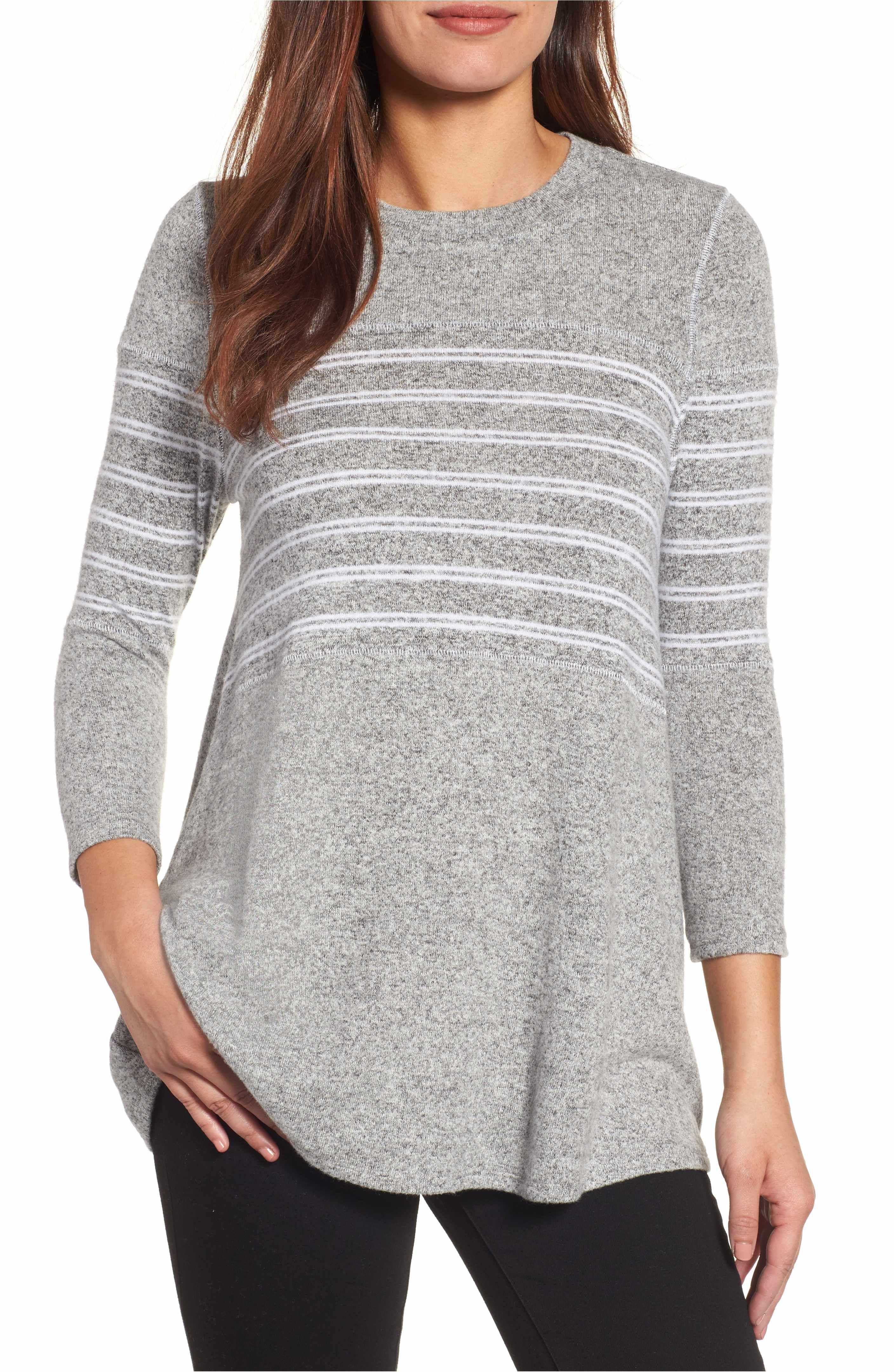 7d72d257b06 Main Image - Caslon® Stripe Panel Sweater