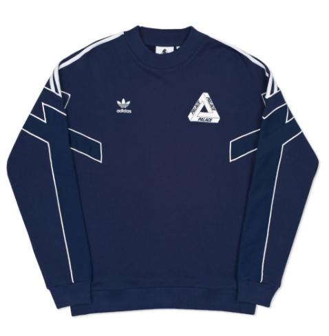 Adidas X Palace TT Crew Neck Indigo