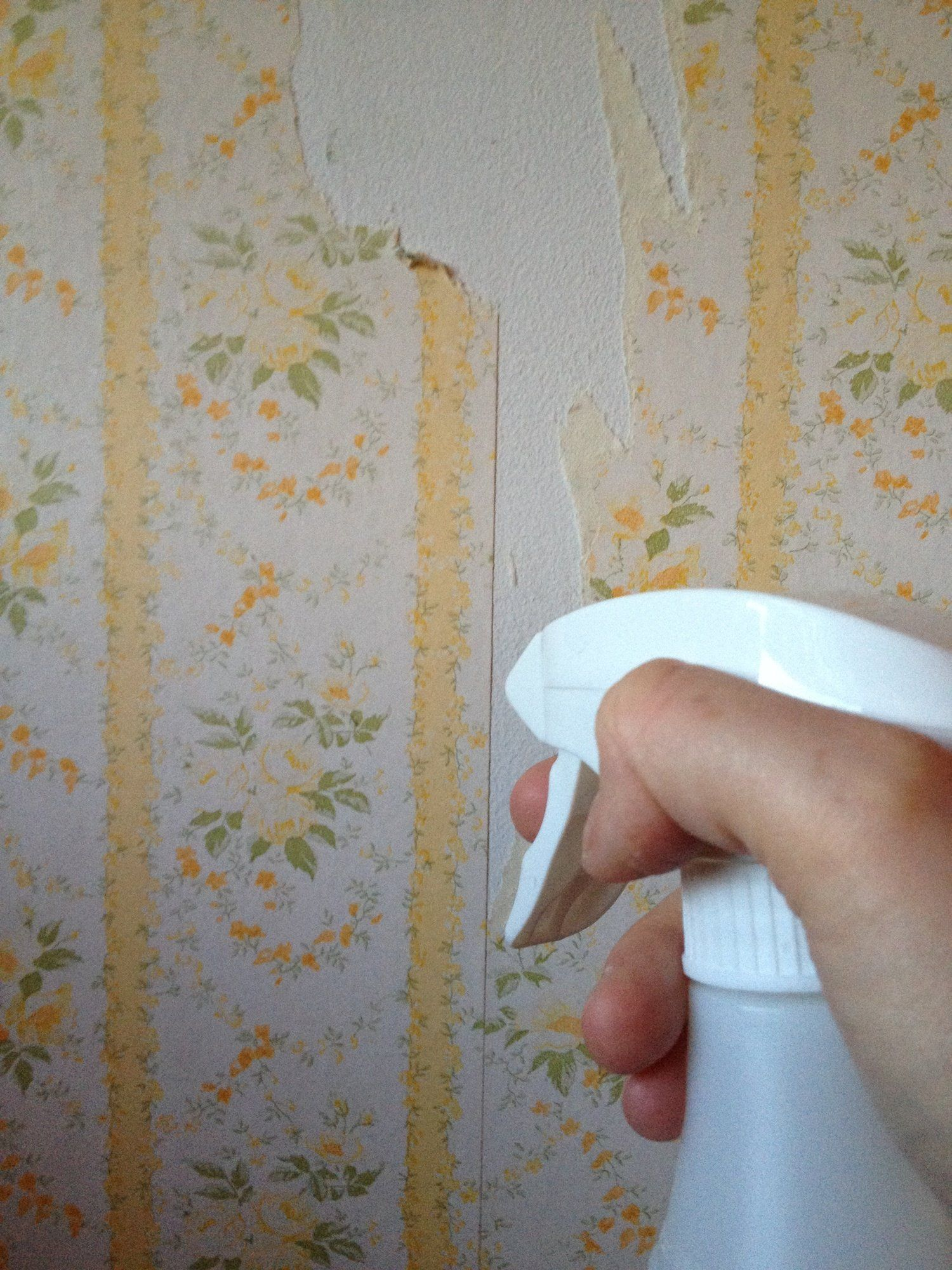 Easy All Natural Wallpaper Removal Tip Use Vinegar And Hot Water Diy Wallpaper Remove Wallpaper Glue Removable Wallpaper