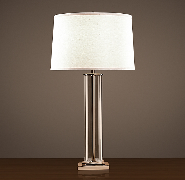 French Column Glass Table Lamp in 2020 Glass table lamp