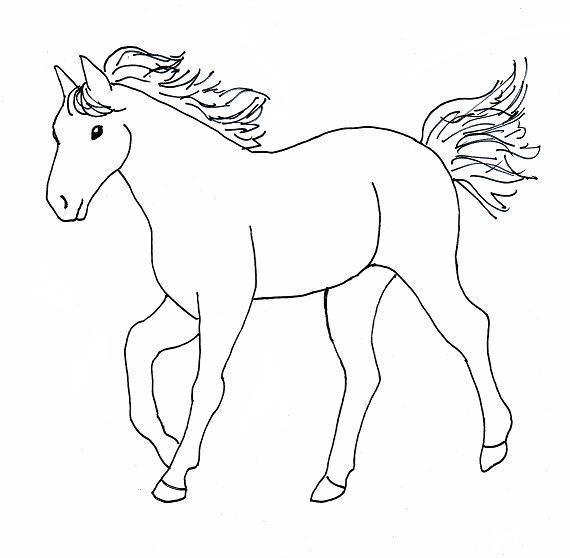 caballos para colorear - Buscar con Google | Dibujo niños ...