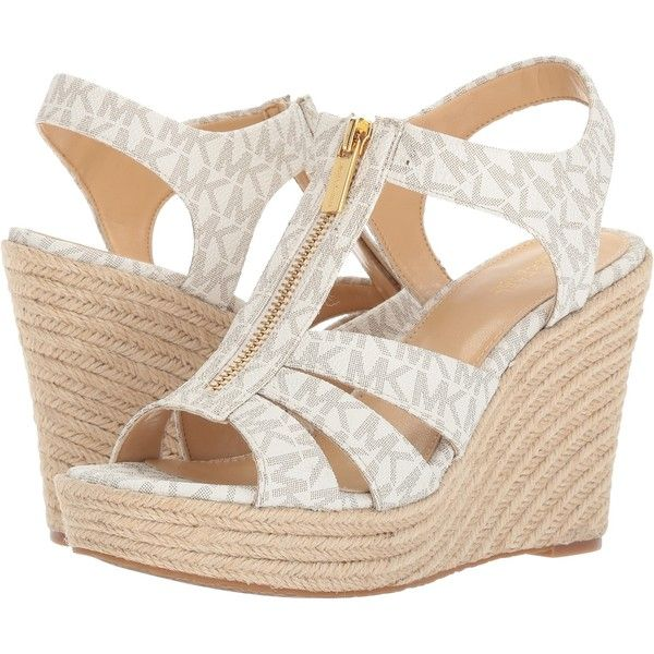 9eb71df38f7c MICHAEL Michael Kors Berkley Wedge (Vanilla) Women s Wedge Shoes ( 47) ❤  liked on Polyvore featuring shoes